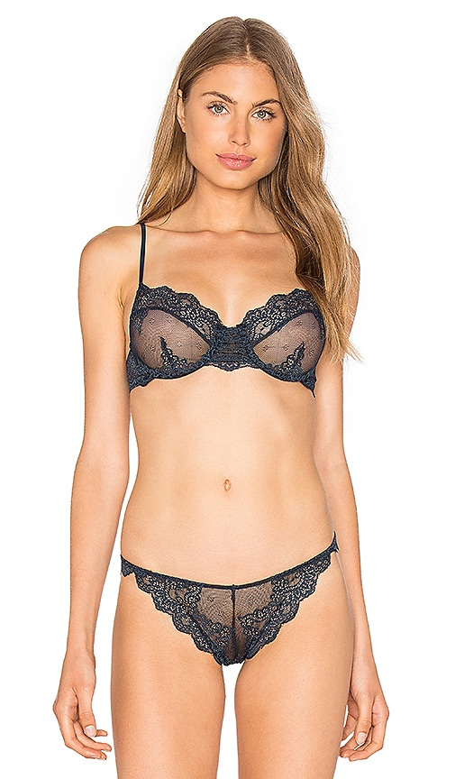 Only Hearts So Fine Lace Underwire Bra in Navy