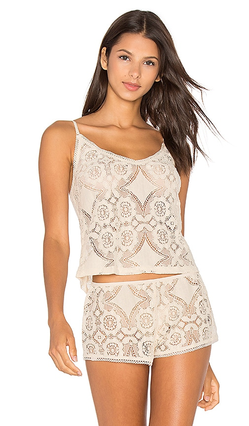 Only Hearts Mosaic Lace Cami in Ivory