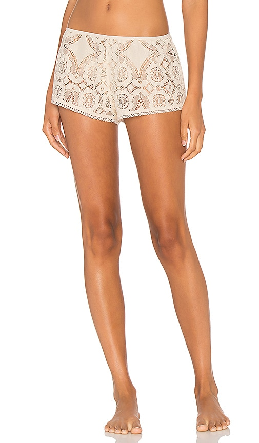 Only Hearts Mosaic Lace Sleep Short in Ivory
