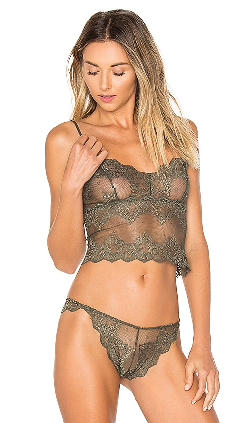 Only Hearts So Fine Lace Cami in Olive