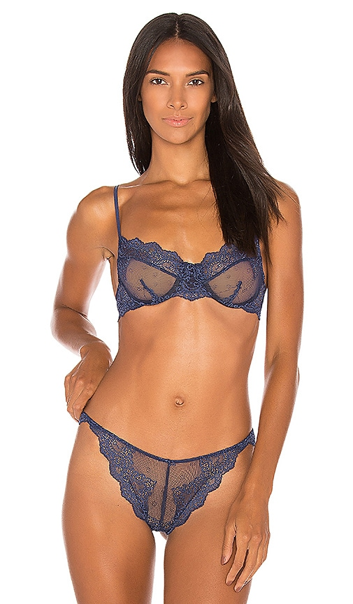 Only Hearts So Fine Lace Underwire Bra in Blue
