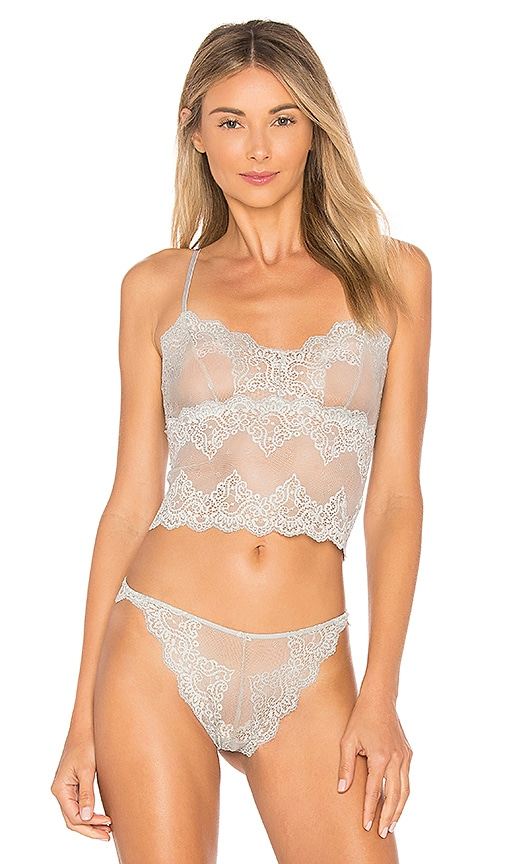 Only Hearts So Fine Lace Cami in Gray