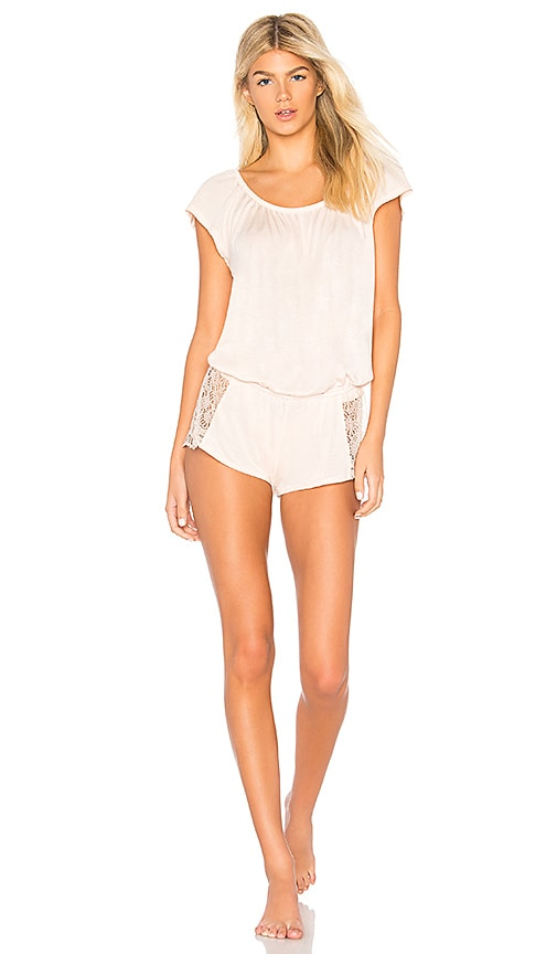 Discount Only Hearts Venice Romper in Vanilla Rose hot sale