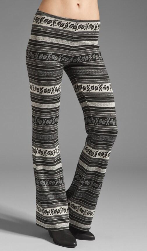 Tapestry Flare Leg Pants