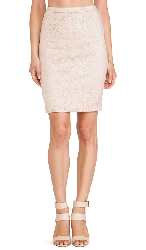 Silver Plated Pencil Skirt