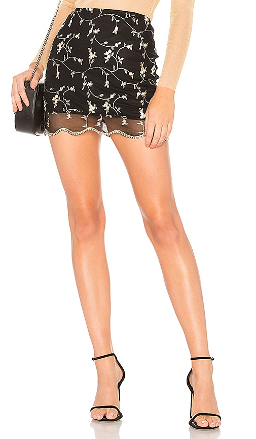 Only Hearts Mini Skirt in Black