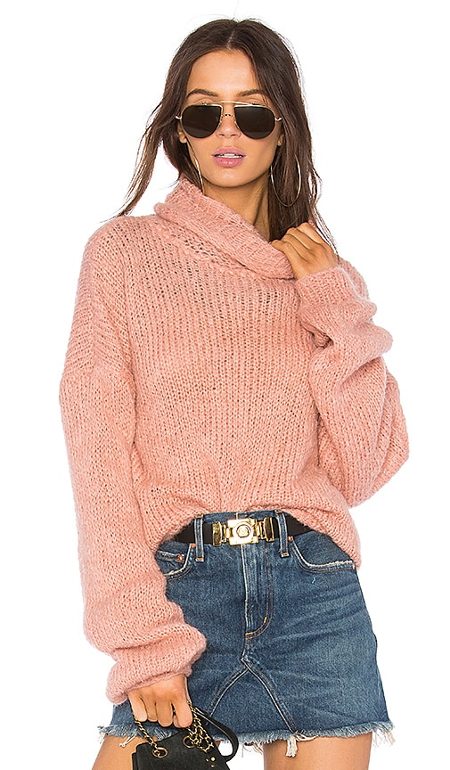 one on one Painterly Sweater in Pink