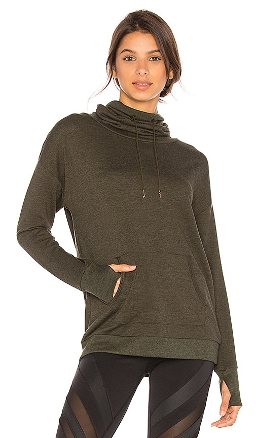 onzie Tulip Back Pullover in Olive