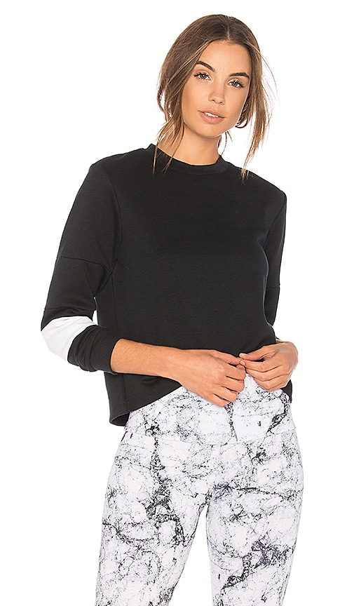onzie Blocked Sweatshirt in Black