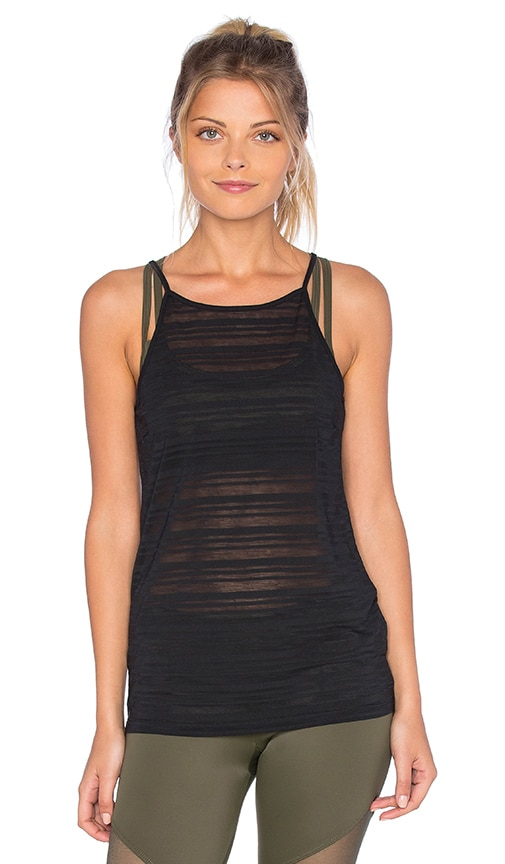 onzie High Neck Tank in Black