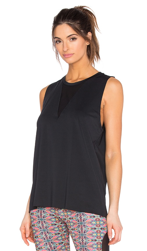 onzie Triangle Mesh Tank in Black