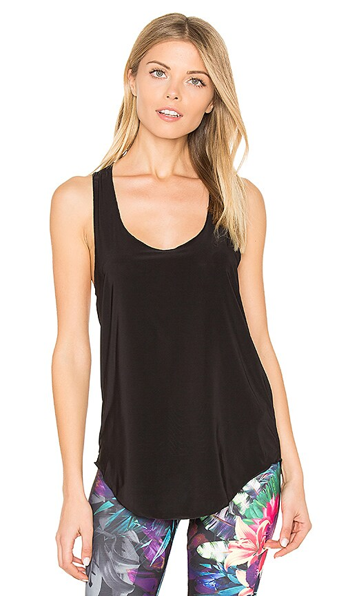onzie Glossy Flow Tank in Black