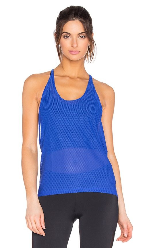 onzie T Back Mesh Tank in Deep Royal