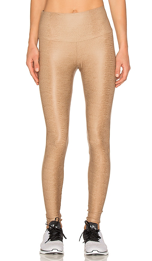 onzie High Rise Legging in Taupe