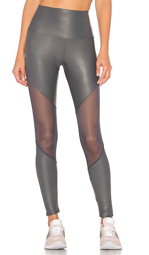 onzie High Rise Track Legging in Gray