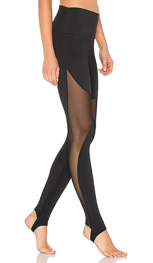 fd3de61dffd9c onzie High Rise Stirrup Legging in Black | REVOLVE