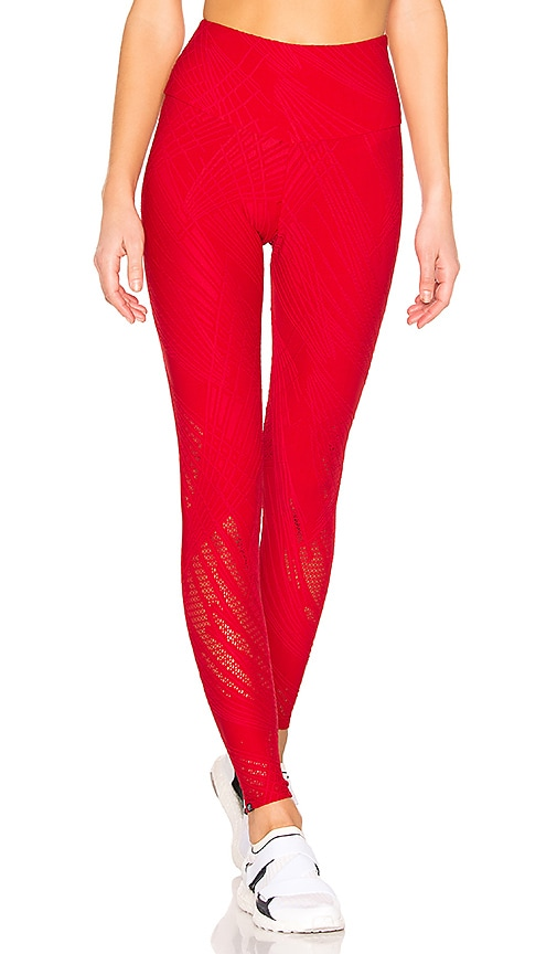 164bfeae7fc78d onzie Selenite Midi Legging in Red | REVOLVE