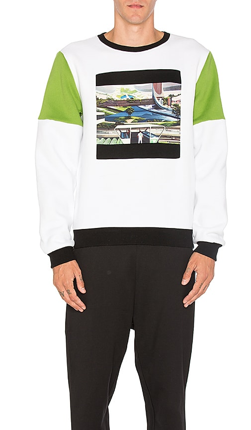 Opening Ceremony Space Agriculture Crewneck Sweatshirt in White