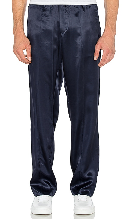 Opening Ceremony Silky Flannel Track Trouser in Navy