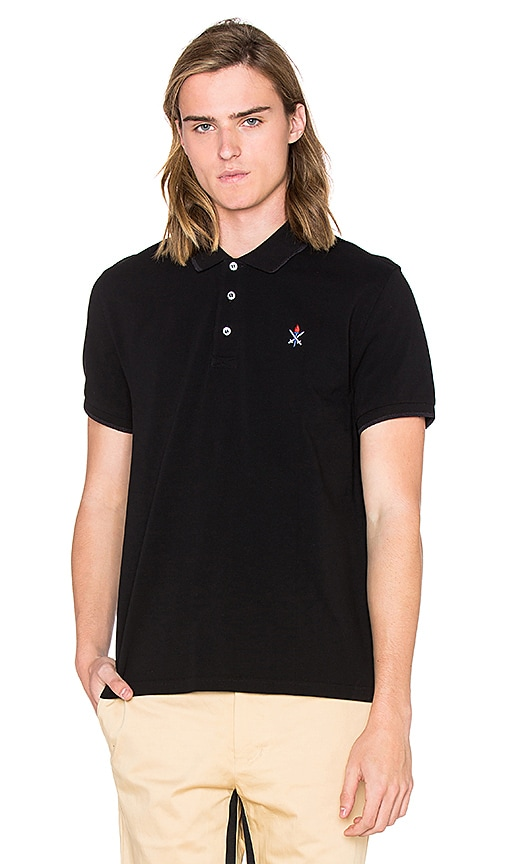 Opening Ceremony Torch Classic Fit S/S Polo in Black
