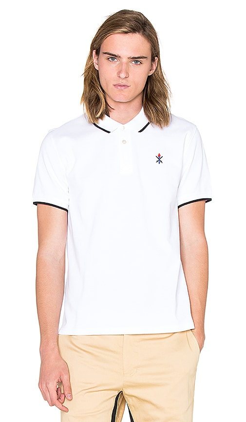 Opening Ceremony Torch Classic Fit S/S Polo in White