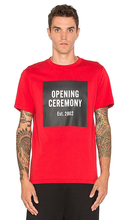 Opening Ceremony SS Logo Tee in Red