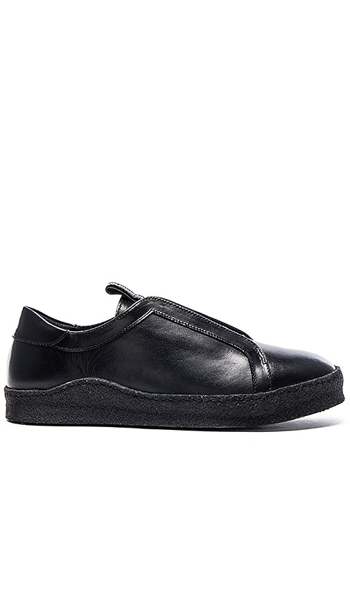 Smooth Calf Leather Crepe Sole Sneaker