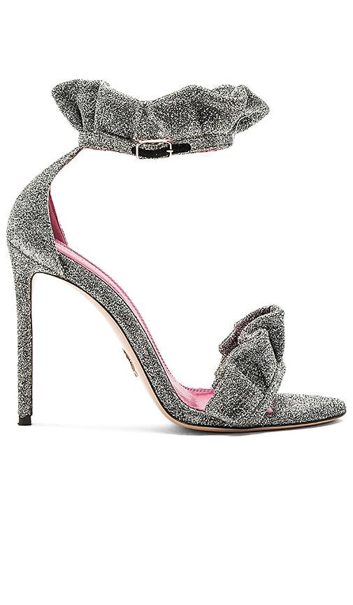 Oscar Tiye Antoinette Heel in Metallic Silver