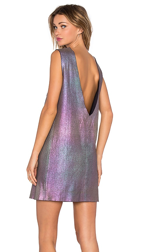 OSKLEN Holographic Sleeveless Dress in Silver
