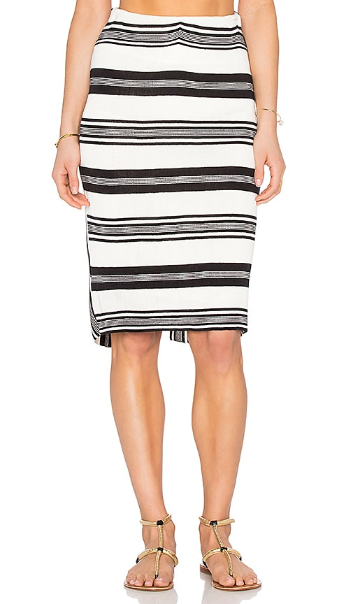 OSKLEN Ashaninka Skirt in Off White & Black