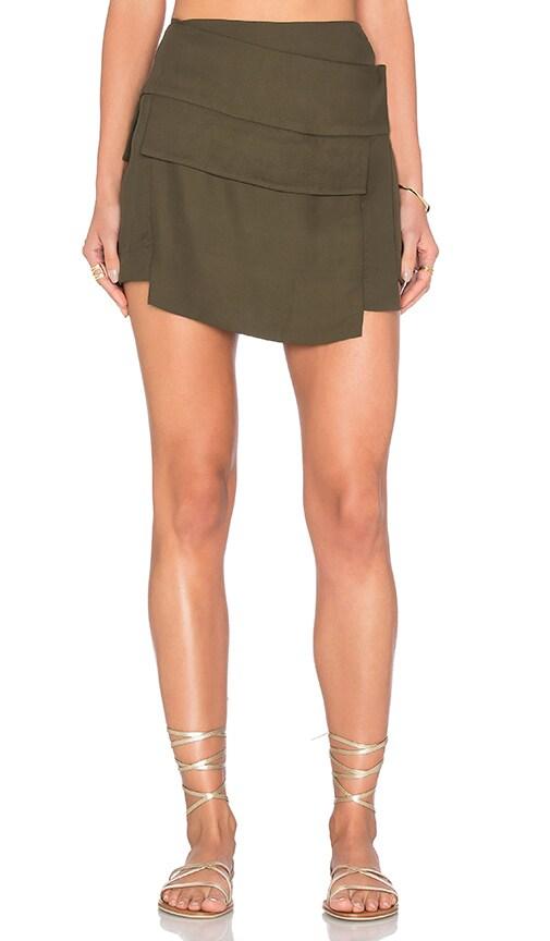 OSKLEN Military Pocket Skirt in Army