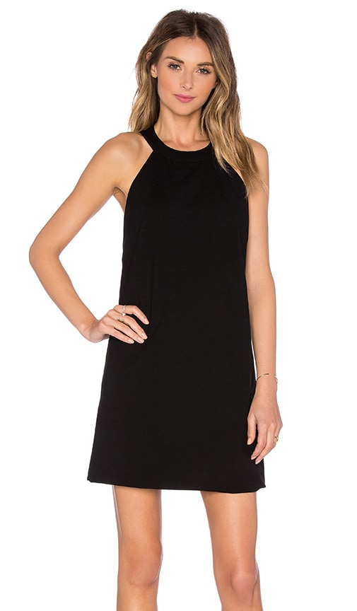 OSKLEN Halter Open Back Dress in Black