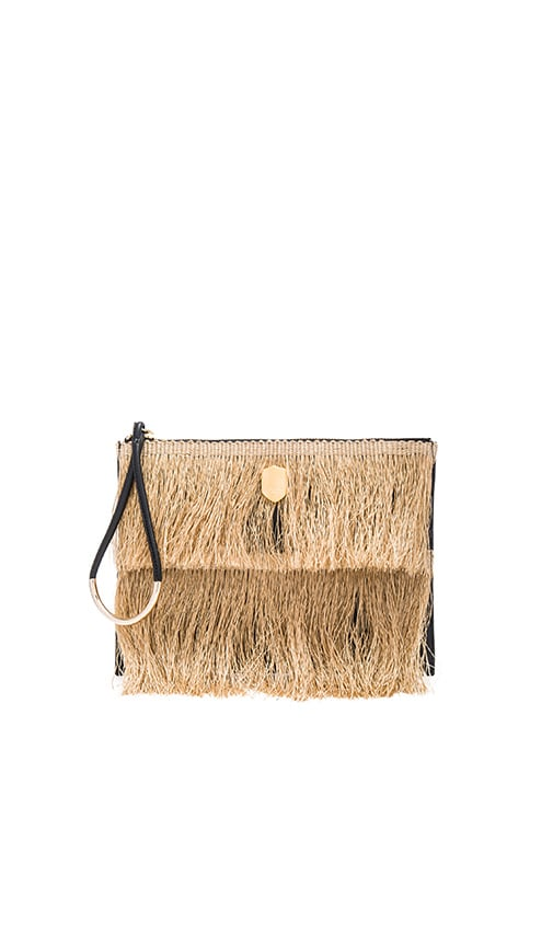 OSKLEN Fringe Clutch in Natural