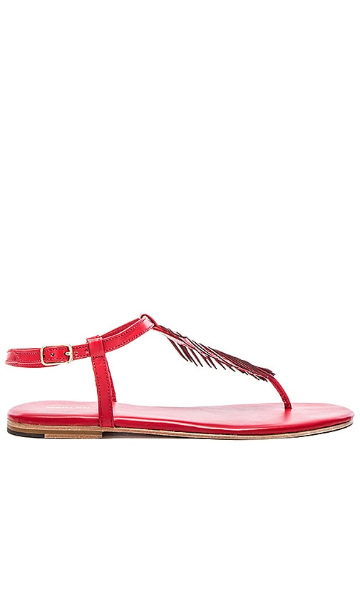 OSKLEN Palm Tree Sandal in Red