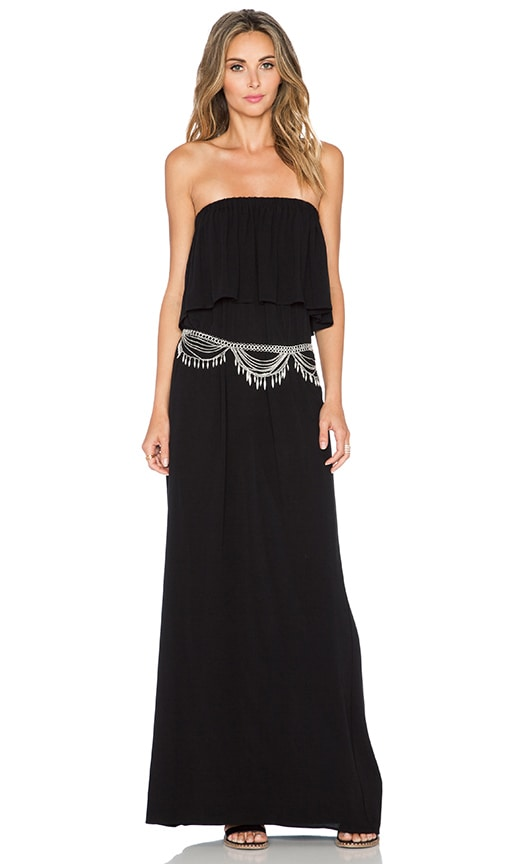 Otis & Maclain Senorita Maxi Dress in Black