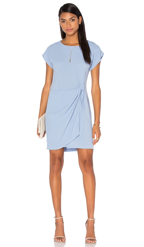 Otis & Maclain Emily Wrap Dress in Blue