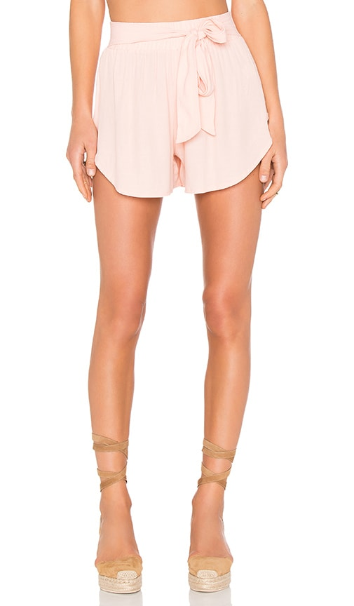 Otis & Maclain Tie Tennis Short in Peach
