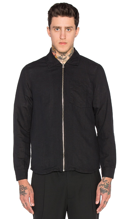 Our Legacy Zip Shirt Jacket in Black