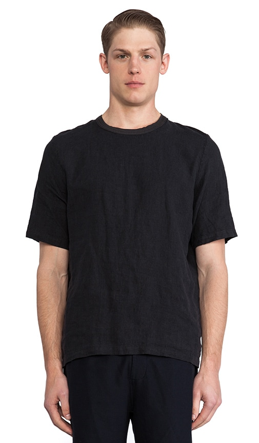 Anthracite Linen Weave Tee