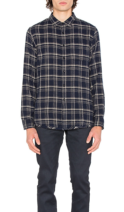 OUTERKNOWN Eugene Plaid Shirt in Blue