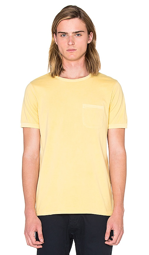 OUTERKNOWN Sojourn Pocket Tee in Yellow