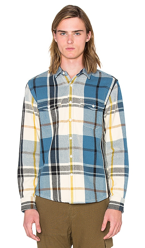 OUTERKNOWN Blanket Shirt in Blue