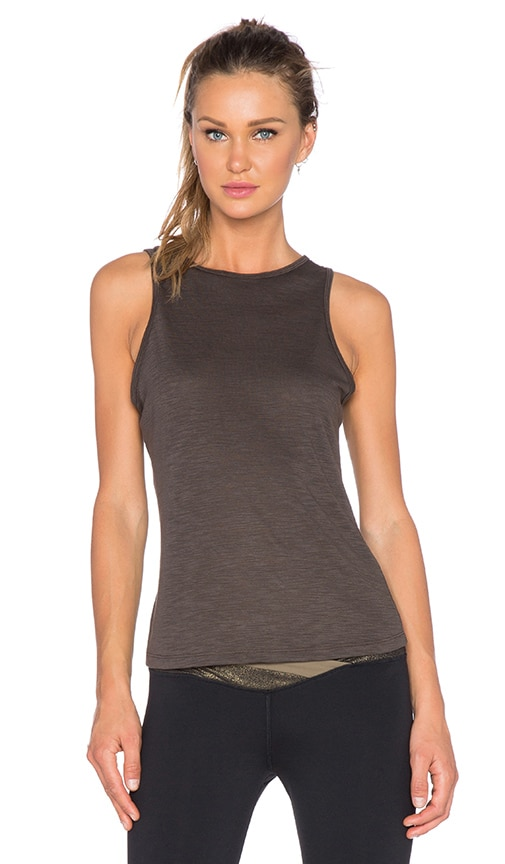 OUT Player Open Back Tee in Grounded Grey