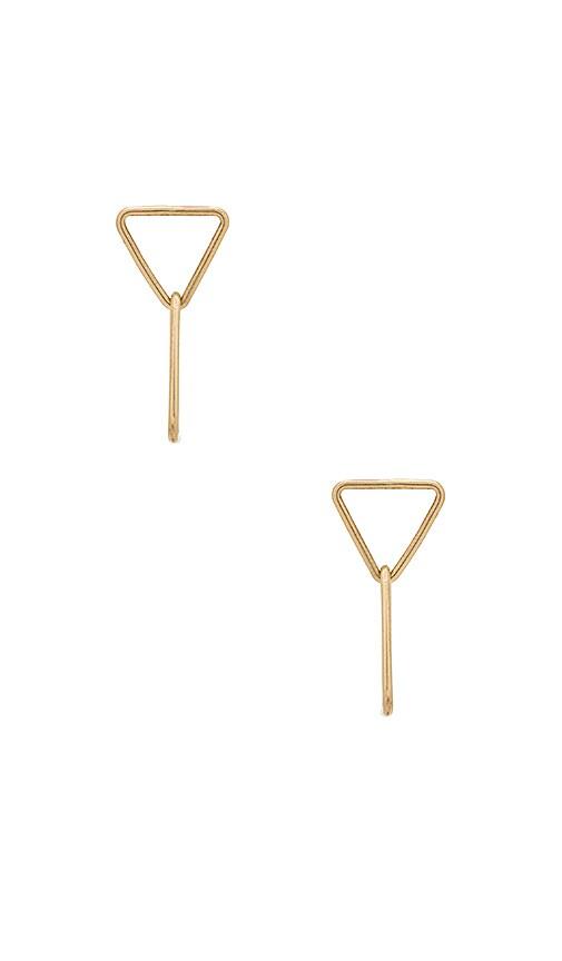 Paradigm Kinetic Post Earrings in Metallic Gold
