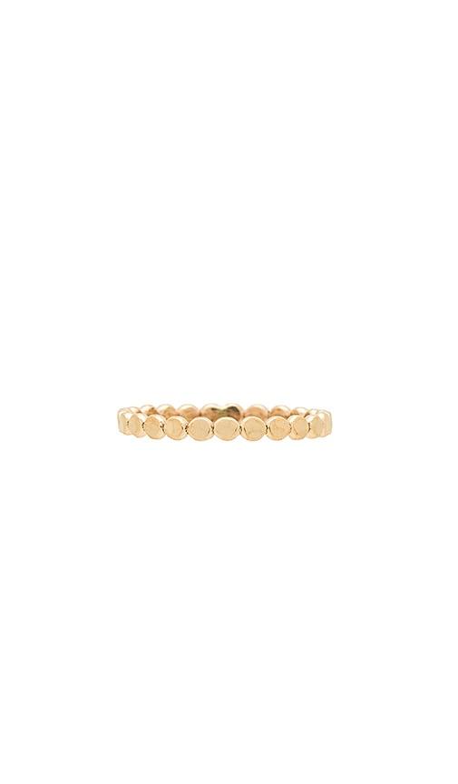 Paradigm Hammered Stars Align Ring in Metallic Gold