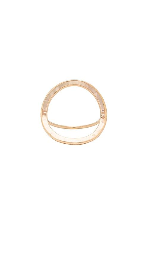 Paradigm Open Circle Ring in Metallic Gold