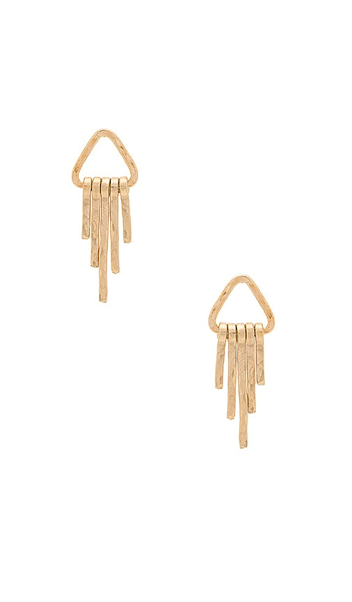 Paradigm Waterfall Earrings in Metallic Gold