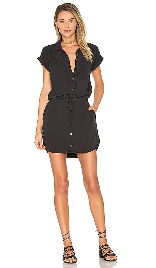 PAIGE Mila Shirt Dress in Black
