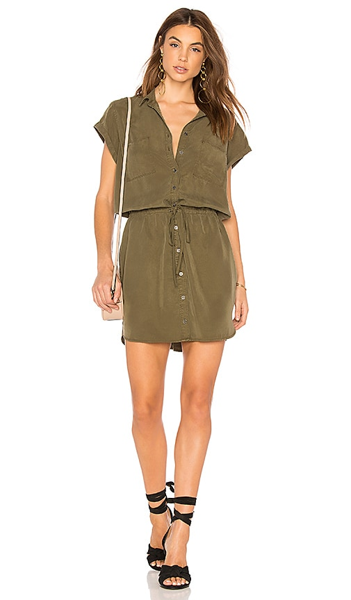 PAIGE Mila Shirt Dress in Olive