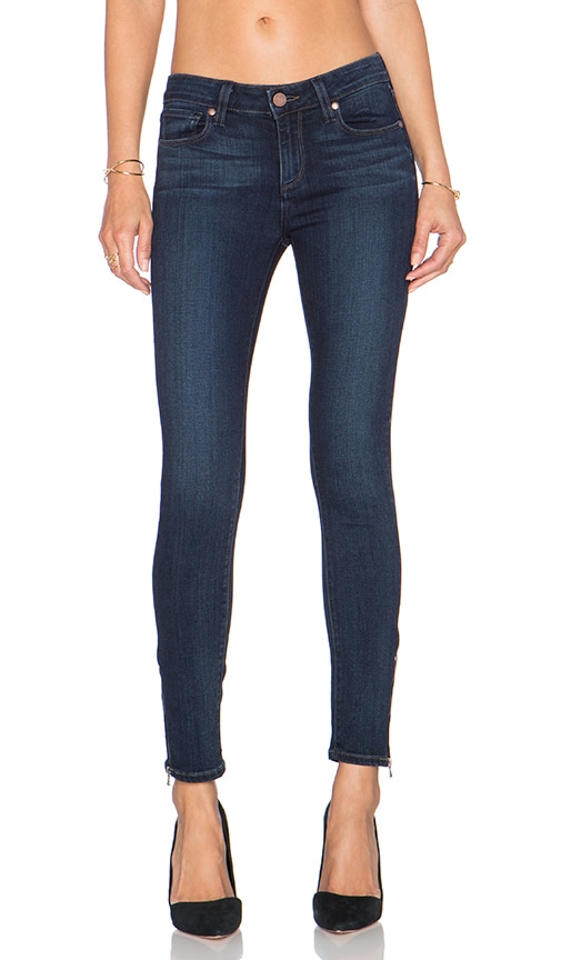Paige Denim Hoxton Ankle Zip Skinny in Clark